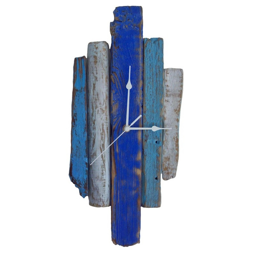 Beach Hut Driftwood Clock by Reclaimed Time